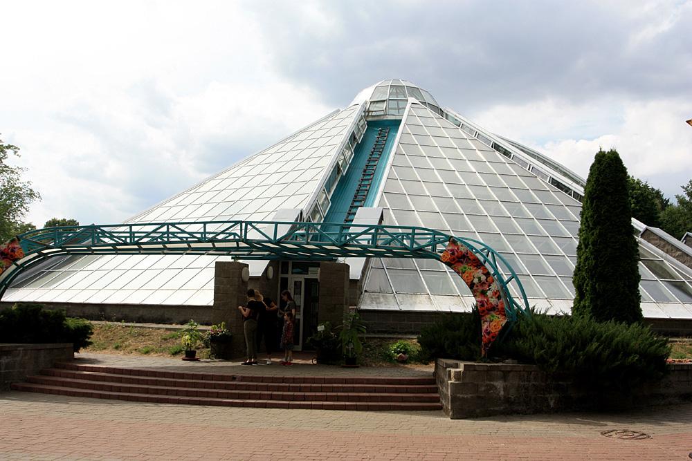 Экспозиционная оранжерея тропических растений в Центральном ботаническом саду НАН Беларуси